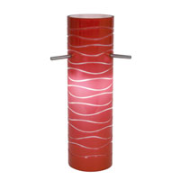 Access Lighting Anari Silk (l) Duplex Cylinder with Red Lined Glass 932V-REDLN
