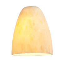 Fire _ Glass Shade in Amber Marble