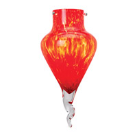 Genie Red Glass Shade, Hand Blown