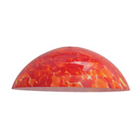 Access Lighting Fire Bowl Glass Shade 965RJ-RED