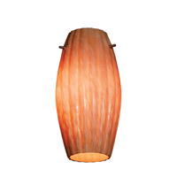 Fleur _ Glass Shade in Amber Marble, Moulded Cylinder