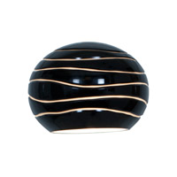 Access 979WJ-BLKLN Sphere Black Lined Glass Shade