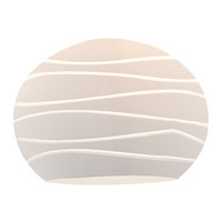 Sphere White Lined Glass Shade