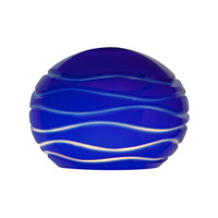 Sphere Blue Lined Glass Shade