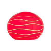 Access Lighting Sphere SphereEtched Shade with Red Lined Glass 979WJ-REDLN