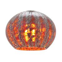 Safari Red Ribbed Opaline Glass Shade, Hand Blown