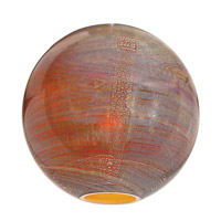 Access Lighting Safari Shade in Silver Amber Opaline 981OP-SAO