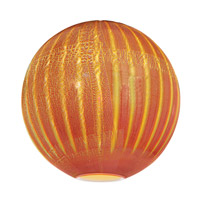 Access Lighting Safari Shade in Silver Amber Ribbed Opaline 981OPR-SARO