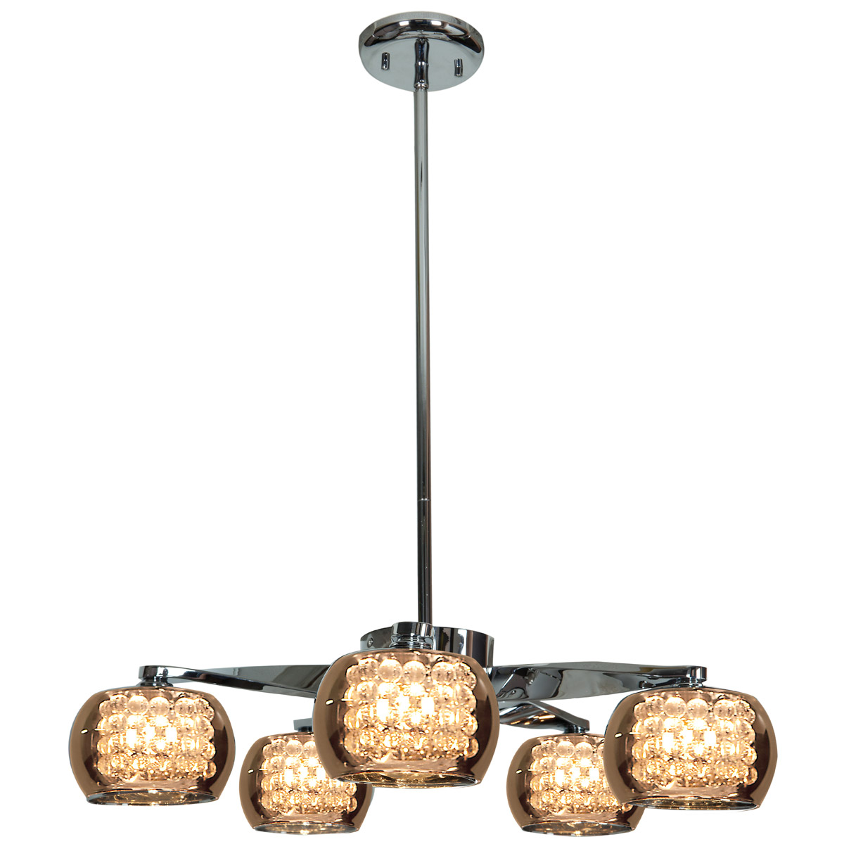 Access 52120-CH/MIR Glam - 5 Lights Chrome Finish Chandelier Ceiling Light