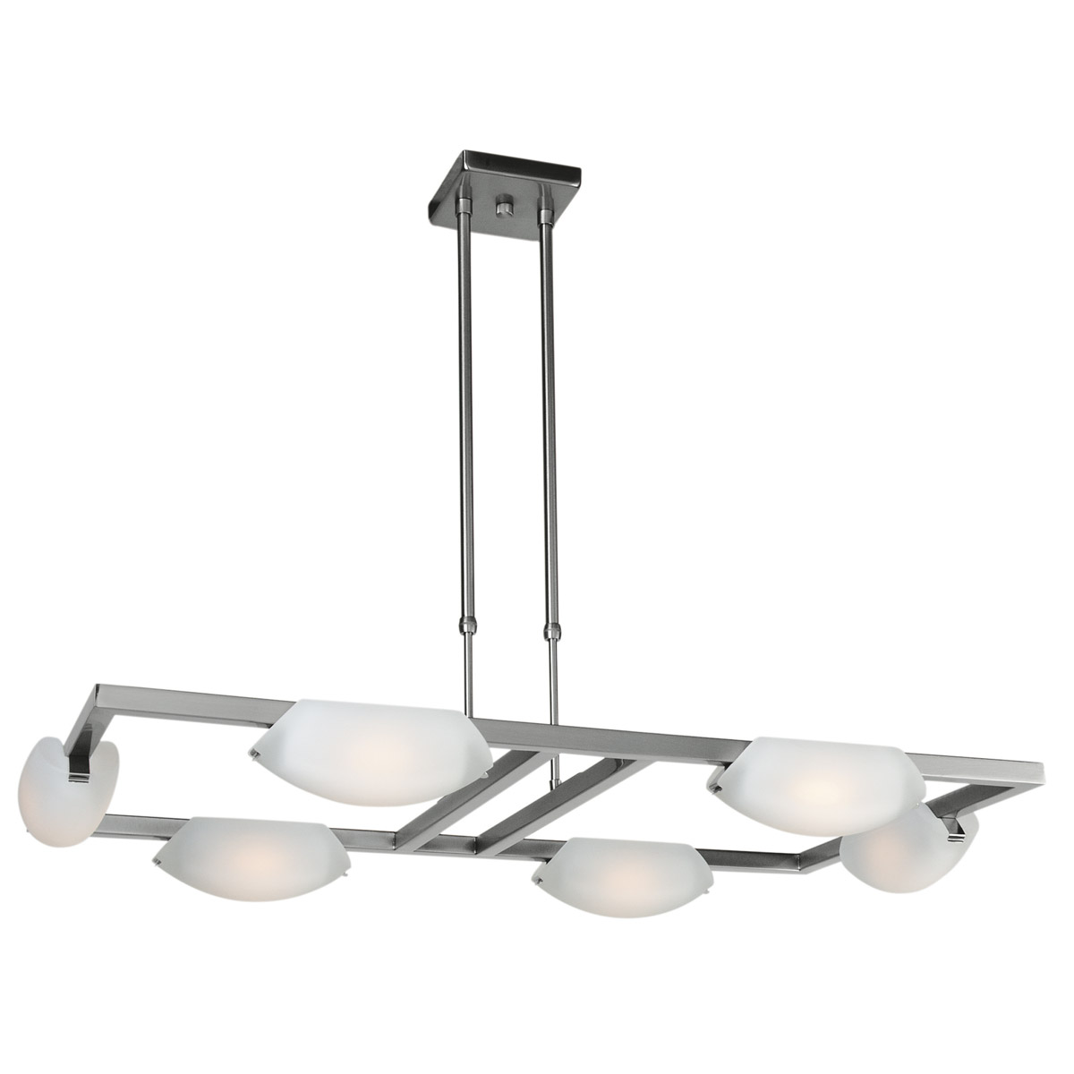 Matte Finish Chrome Chandelier Ceiling Light by Access Lighting