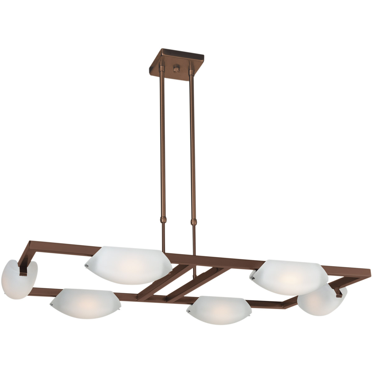 Access Lighting Nido Collection - 6 Light 3 inch Oil Rubbed Bronze Finish Chandelier
