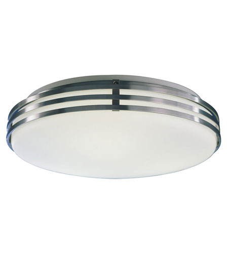 AFX Lighting Bilbao 2 Light Flush Mount in Satin Aluminum BBF213SAMV photo