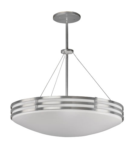 AFX Lighting Bilbao 4 Light Dimmable Pendant in Satin Aluminum BBP420SASCTD photo
