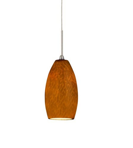 AFX BEPL45027AMSN Bella LED 3 inch Satin Nickel Mini Pendant Ceiling Light in Amber, 120-277, 2700K photo