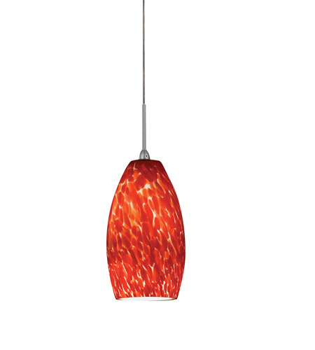 AFX BEPL45040RDSN Bella LED 3 inch Satin Nickel Mini Pendant Ceiling Light in Red, 120-277, 4000K photo