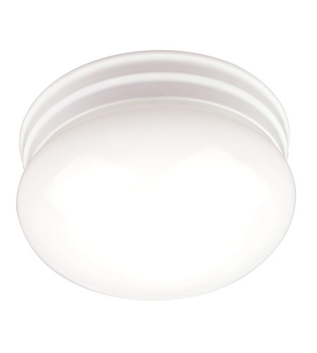 AFX Lighting C Series 1 Light Flush Mount in White with Opal Glass C120WHMCT photo