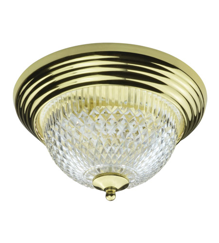 AFX Lighting C Series 2 Light Flush Mount in Polished Brass with Prismatic Acrylic Diffuser C213PBPLT photo