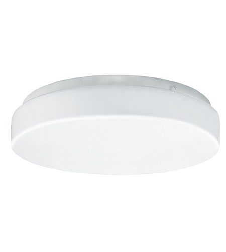 AFX Lighting C2F Series 1 Light LED Flush Mount in White with White Acrylic Diffuser C2F110040LWH photo