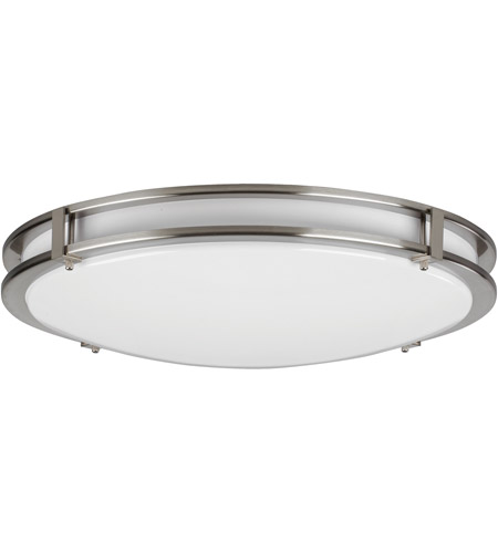 Led 14 Inch Satin Nickel Flush Mount