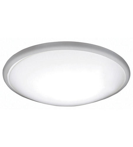 AFX CFF12122C941ENSN Capri 1 Light 13 inch White Flush Mount Ceiling Light in Satin Nickel, 12 in., 4100K photo