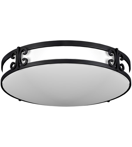 AFX Lighting CL Series 2 Light Flush Mount in Black Iron  CLF2232BKT photo