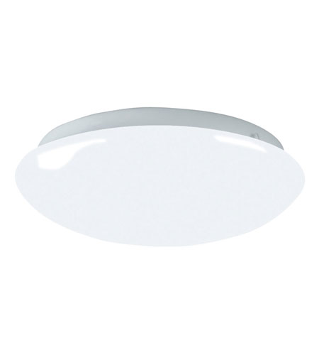 AFX Lighting Shallow Mushroom Style Cloud 1 Light Flush Mount in White CMS2022ET photo