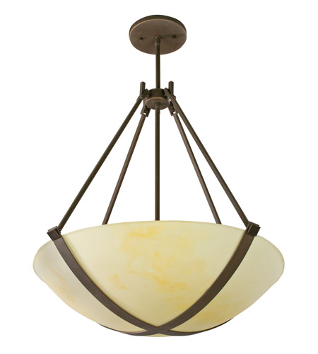AFX Lighting Carson 4 Light Pendant in Oil-rubbed Bronze CRP418RBMV photo