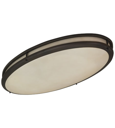 newest collection 92f91 4bc91 Contemporary 2 Light 17 inch Oil-rubbed Bronze Oval Flush Mount Ceiling  Light