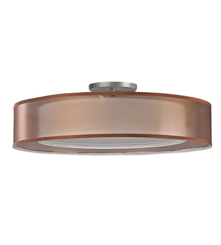 AFX CZF226QSNMV-BZWH Cortez 2 Light 18 inch Satin Nickel Flush Mount Ceiling Light in Bronze/White, CFQ 4-Pin, 56 photo