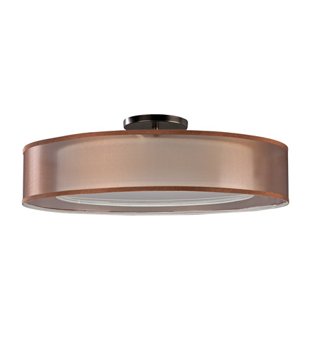 AFX CZF618QKBMV-BZWH Cortez 6 Light 30 inch Oakley Bronze Flush Mount Ceiling Light in Bronze/White, 108 photo