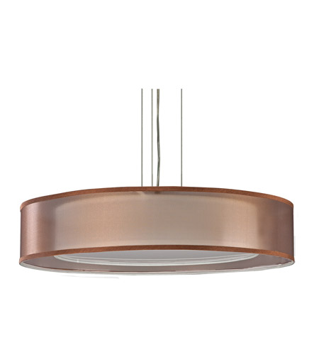 AFX CZPC418QSNMV-BZWH Cortez 4 Light 24 inch Satin Nickel Pendant Ceiling Light in Bronze/White photo