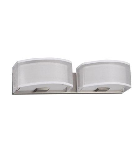 AFX CZV218QSNMV-WHWH Cortez 2 Light 24 inch Satin Nickel Vanity Wall Light in White/White, CFQ 4-Pin, 36 photo