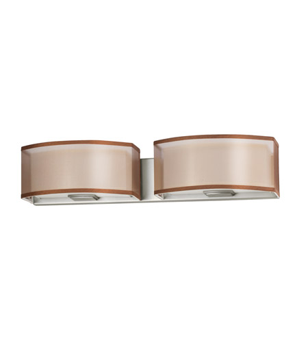 AFX CZV218SNSCT-BZWH Cortez 2 Light 24 inch Satin Nickel Vanity Wall Light in Bronze/White, GU24, 18 photo