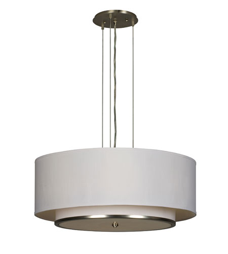 AFX Lighting Dayton 4 Light Pendant Dimmable in Satin Nickel DYP420SNSCTD photo