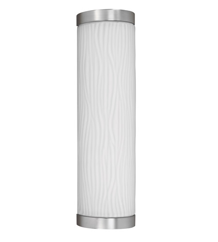 AFX FUW213SNEC-PC Fusion 1 Light 19 inch Satin Nickel Outdoor Sconce in 18 photo