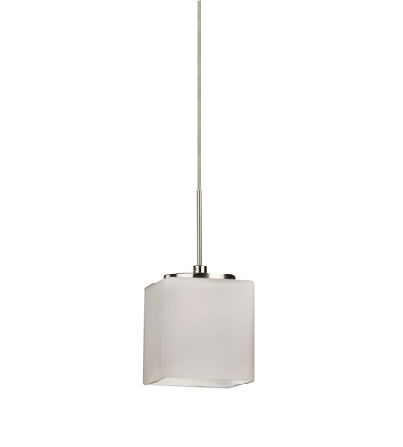 AFX GEPL45040WHSN Geo LED 3 inch Satin Nickel Mini Pendant Ceiling Light in White photo