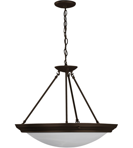 AFX Lighting Duomo 3 Light Pendant in Oil-rubbed Bronze H7313RBSCT photo