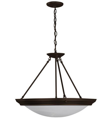 AFX Lighting Duomo 4 Light Pendant in Oil-rubbed Bronze H8413RBSCT photo