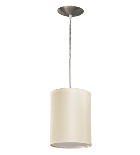 AFX Lighting Hunt 1 Light Pendant in Satin Nickel with Cream Acrylic Diffuser HTP118SNSCT-CR photo