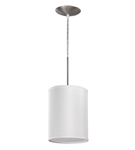 AFX Lighting Hunt 1 Light Pendant in Satin Nickel with White Acrylic Diffuser HTP118SNSCT-WH photo