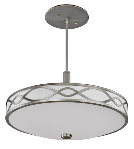 AFX Lighting Hudson 4 Light Pendant in Satin Nickel HZP413SNMV photo