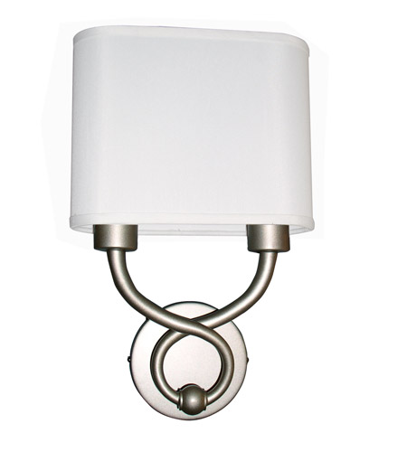 AFX Hudson 2 Light Wall Sconce in Satin Nickel HZS1016218QENSNFSS photo