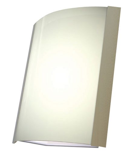 AFX Lighting IDS Series 1 Light Wall Sconce in Satin Nickel with Matte White Glass IDS118SNSCT photo