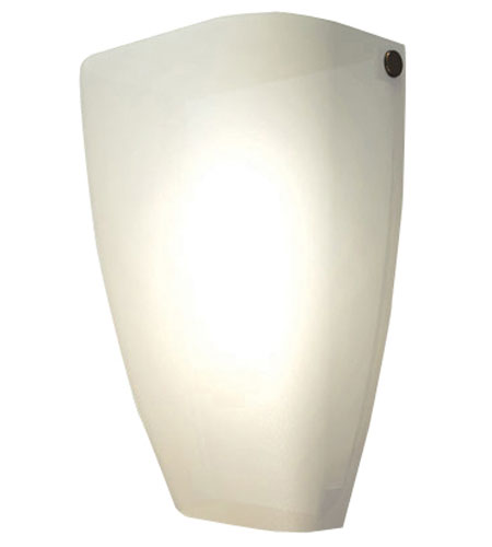 AFX Lighting IDSR Series 1 Light Wall Sconce in Satin Nickel with Matte White Glass IDSR118SNSCT photo