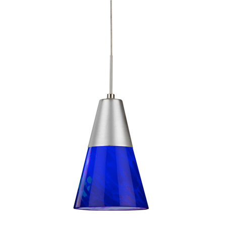 AFX LAPL45027BUSND1 Laveer LED 5 inch Satin Nickel Mini Pendant Ceiling Light in Blue, 120, 2700K photo