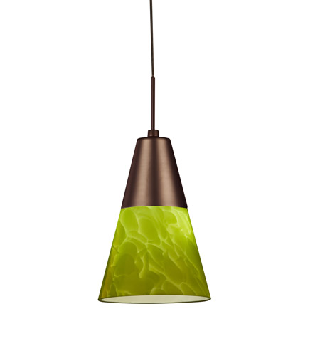 AFX LAPL45040GNRB Laveer LED 5 inch Oil-Rubbed Bronze Mini Pendant Ceiling Light in Green, 120-277, 4000K photo