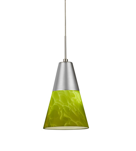 AFX LAPL45040GNSN Laveer LED 5 inch Satin Nickel Mini Pendant Ceiling Light in Green, 120-277, 4000K photo