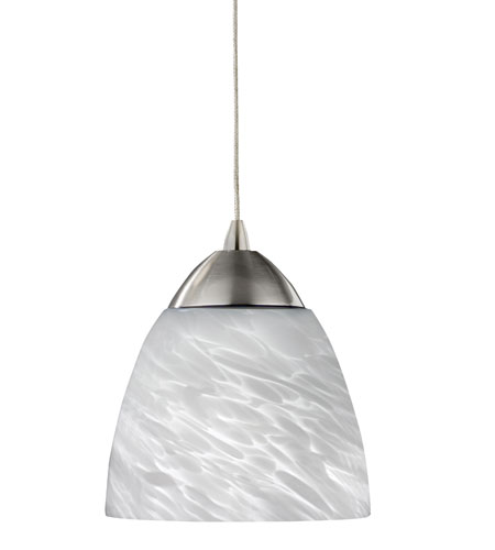 AFX Lighting Turner 1 Light Pendant in Satin Nickel LV1TUP13WHSN photo