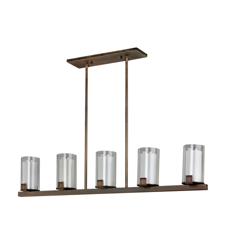AFX Lighting Nolan 5 Light Pendant in Oil-rubbed Bronze NLP520RBSCTD photo