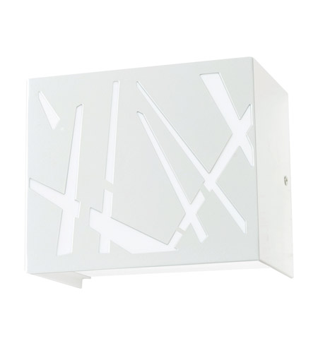 AFX NMS65500L30D1WH-DC Noma LED 6 inch White Sconce Wall Light in Diagonal White photo